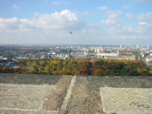 Foto: Aussicht �ber Leipzig vom V�lkerschlachtdenkmal