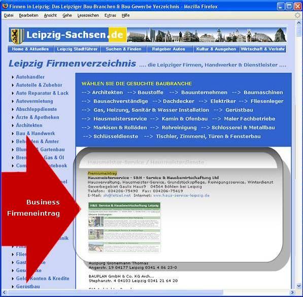Verzeichnis Firmen Leipzig (Branchenbuch)