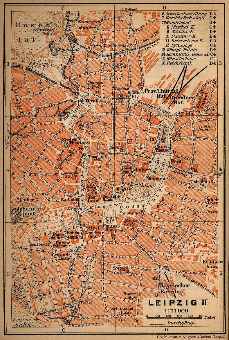 Leipzig-Stadtplan um 1910