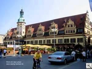 Leipzig-Fotos - Der Markt , Altes Rathaus, Auerbachs Keller, M�dlerpassage