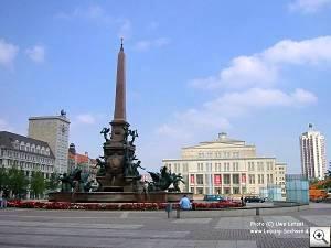 Foto: Augustusplatz und Oper