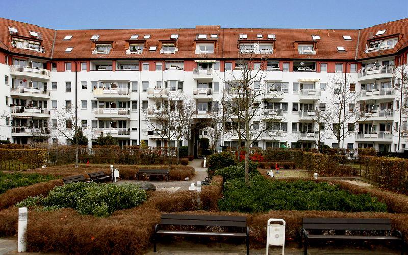 Foto: Eigentumswohnungen in einer Wohnanlage im Leipziger Stadtteil Paunsdorf
