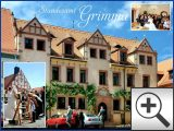 Bild: Altstadt von Grimma mit Rathaus links und Standesamt rechts