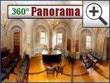 Rittersaal Trauzimmer im Standesamt Schloss Machern (360 Grad Panorama)