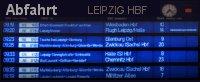 Leipzig Hauptbahnhof Fahrplan Abfahrttafel