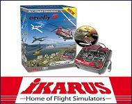 IKARUS aerofly Flug Simulator RC-FlightController mit USB-Anschluss für Win und Mac